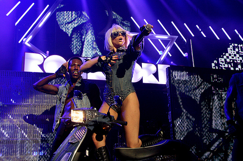 Lady Gaga au concert de Manchester 1